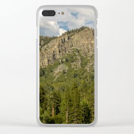 Rocks and Shrubs Clear iPhone Case