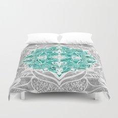 Oriental Nights Aqua Green Duvet Cover