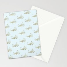 (Cork)screwed Whale Stationery Cards
