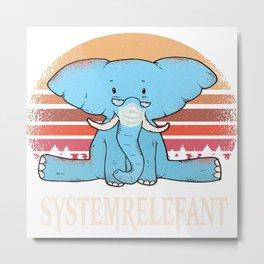 Systemrelefant System Relefant Approval Occupation Elephant Metal Print
