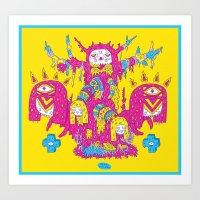 Psycho Tree Art Print