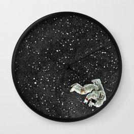 ALONE AT NIGHT Wall Clock