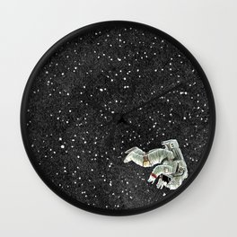 ALONE AT NIGHT Wall Clock