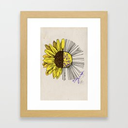 Live By the Sun Framed Art Print