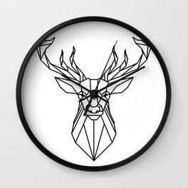 deer vector statue Wall Clock
