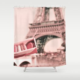 Paris in Blush Pink I Shower Curtain