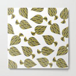 Multi Drop Leaf Metal Print
