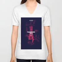 human V-neck T-shirts featuring Human by Frank Moth