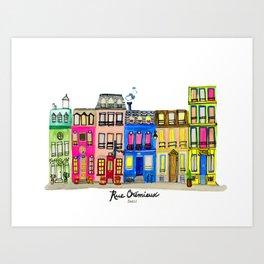 Rue Cremieux, Paris Art Print