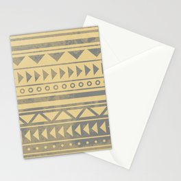 Ethnic geometric pattern with triangles circles and lines Stationery Cards