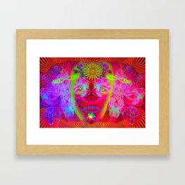 Psychedelic Sugar Skull (Halloween) Framed Art Print