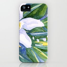 Tropical Flower Watercolor iPhone Case