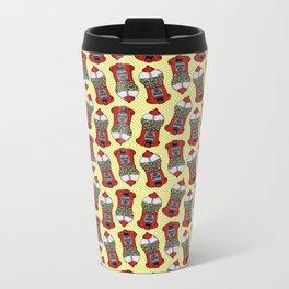 Gumball Machine Pattern Metal Travel Mug