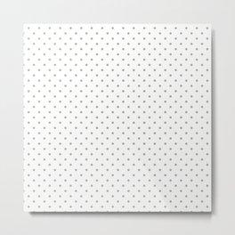 Classic Small White Polka Dot Spots on Desert Sage Grey Green Metal Print