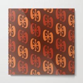 Starburst Bell Peppers Orange Metal Print