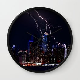 New York Storm Wall Clock