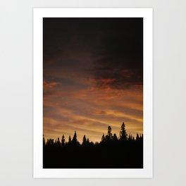Boundary Waters Sunset Reflection Art Print