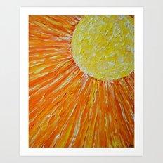 Hard Sun Art Print