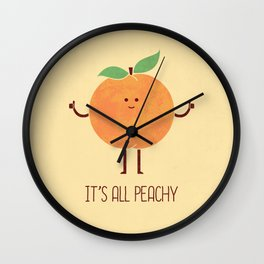 All Peachy Wall Clock