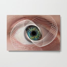 Mobius Eye Seeing All, Infinite Vision Metal Print