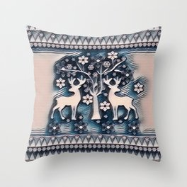 Christmas deer 6 Throw Pillow