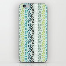 Blue and mint floral iPhone & iPod Skin