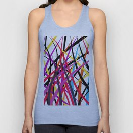 tangled up in colors Unisex Tank Top