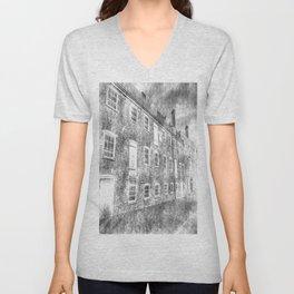 House Mill Bow London Vintage Unisex V-Neck