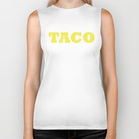 taco Biker Tanks featuring Taco by Book Ink Boutique