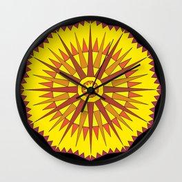Golden Star Wheel Wall Clock
