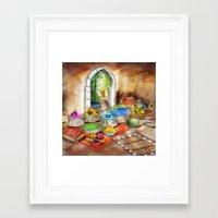 morocco Framed Art Prints featuring Morocco by Helene Michau