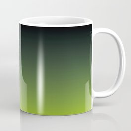 Ombre | Charcoal Grey and Lime Green Coffee Mug