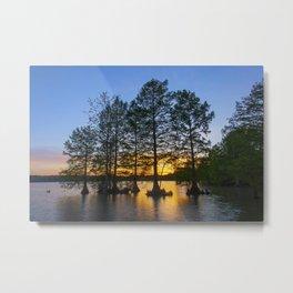Sunset at Stumpy Lake Metal Print