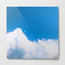 Starfighter breaking clouds Metal Print
