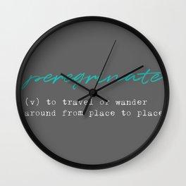 Peregrinate Wall Clock