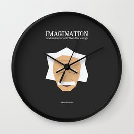 Lab No. 4 - Albert Einstein Inspirational Quotes Typography Poster Wall Clock