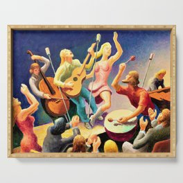 Classical Masterpiece 'Youth Music' by Thomas Hart Benton Serving Tray