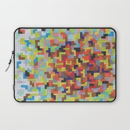 Warm Blocks Cloud Laptop Sleeve