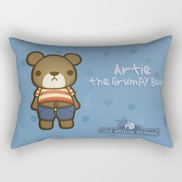 Artie the Grumpy Bear Rectangular Pillow