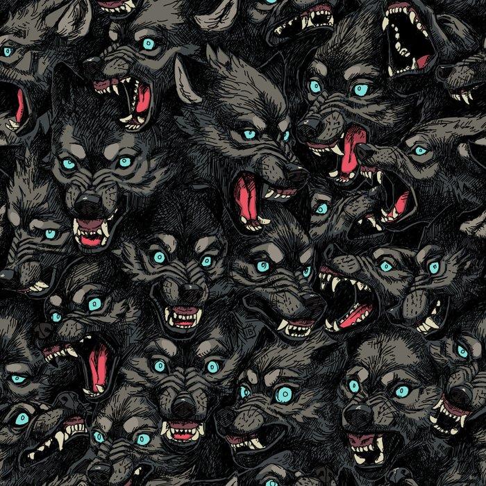 Wolf Pack Pattern Leggings