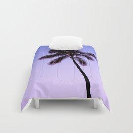 palm tree ver.violet Comforters