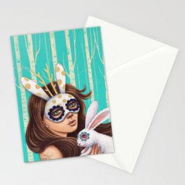Jackalope and Bunny Stationery Cards