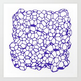 Random Foam (Smashed Blueberry) Art Print