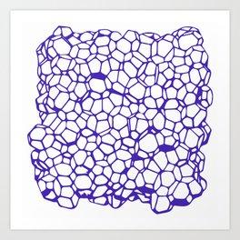 Random Foam (Smashed Blueberry) Art Print