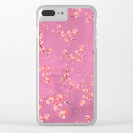 Cherry Flower XXXV (spring floral pattern) Clear iPhone Case
