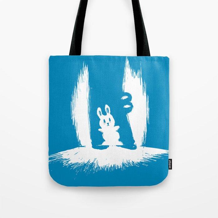 cornered! (bunny and crocodile) Tote Bag