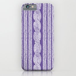 Cable Stripe Violet iPhone Case