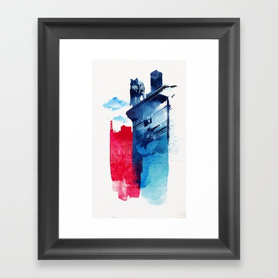 This is my town Framed Art Print