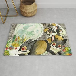 Moonlight (With Jackalopes) Rug
