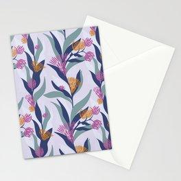 Delicate trailing floral design on a soft mauve base Stationery Cards
